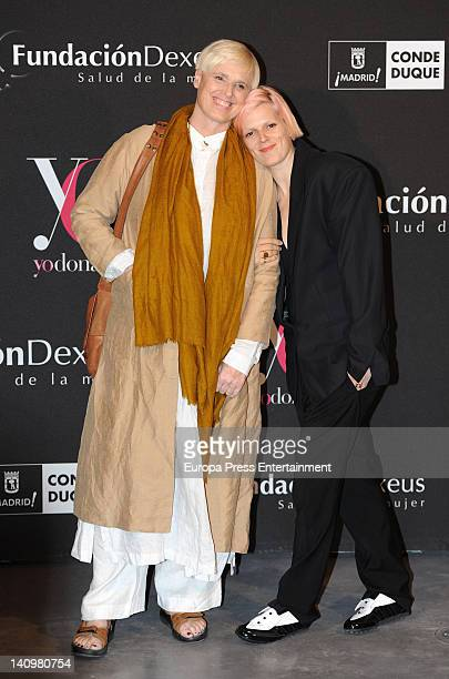 """Bimba Bose and Lucia Dominguin attend """"Ser Mujer. Hoy"""" exhibition on March 8, 2012 in Madrid, Spain."""