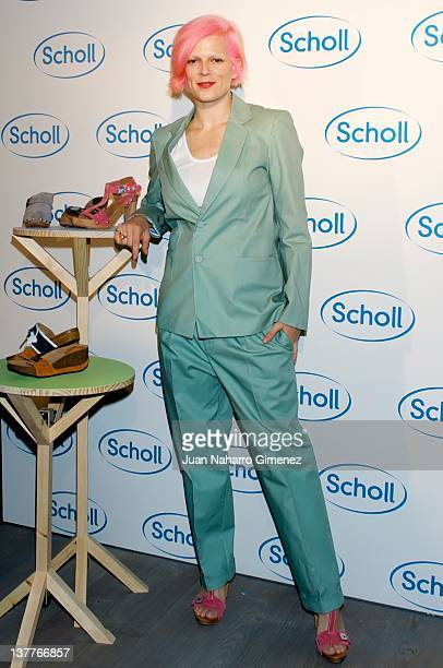 Bimba Bose attends Scholl German shoes presentation of the New Collection at The Hub on January 26 2012 in Madrid Spain