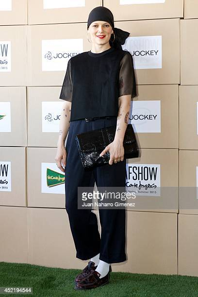 Bimba Bose attends the Jockey show during MFSHOW 2014 day 2 at COAM on July 15, 2014 in Madrid, Spain.
