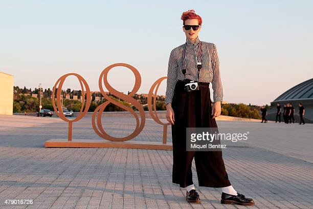 Bimba Bose attends the Mango fashion show at 'Barcelona 080 Fashion Autumn\Winter 2015-2016' at the Olympic Stadium of Barcelona on June 29, 2015 in...