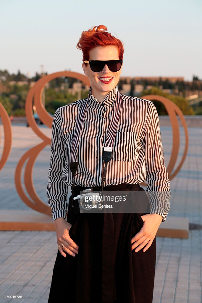 Bimba Bose attends the Mango fashion show at 'Barcelona 080 Fashion Autumn\Winter 2015-2016' at the Olympic Stadium of Barcelona on June 29, 2015 in Barcelona, Spain.