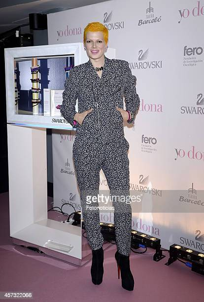 Bimba Bose attends the Yo Dona and Swarovski Pink Hope Party at Barcelo Theatre on October 16, 2014 in Madrid, Spain.