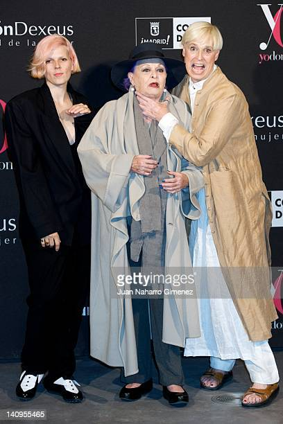 """Bimba Bose, Lucia Bose and Lucia Dominguin attend """"Ser Mujer. Hoy"""" exhibition at Conde Duque Center on March 8, 2012 in Madrid, Spain."""