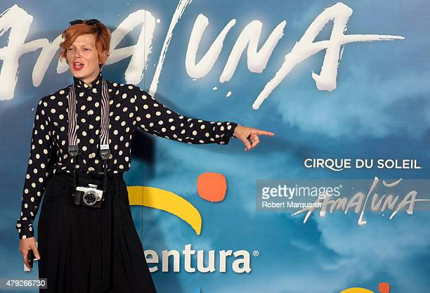 Bimba Bose poses during a photocall for the premiere of 'Amaluna' show by Cirque Du Soleil at Portaventura theme park on July 2, 2015 in Tarragona,...