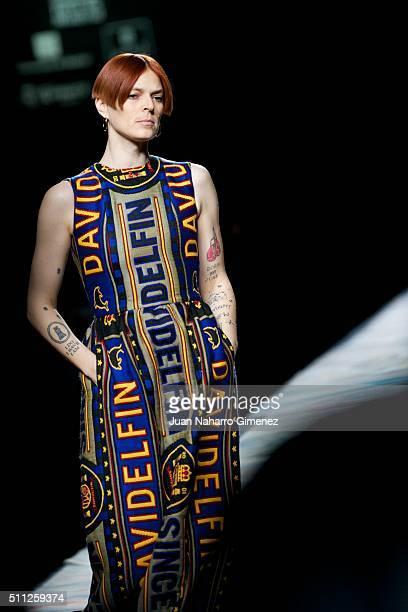 Bimba Bose walks the runway at the Davidelfin show during the MercedesBenz Madrid Fashion Week Autumn/Winter 2016/2017 at Ifema on February 19 2016...