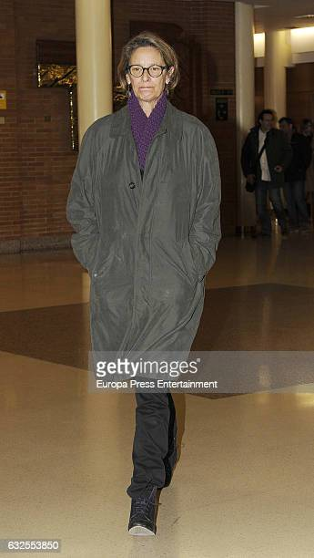 Bimba Bose's aunt Paola Dominguin attends the funeral chapel for Bimba Bose on January 24, 2017 in Madrid, Spain. Bimba Bose Died in Madrid at the...
