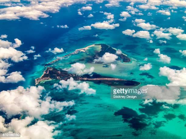 bimini island bahamas aerial 1955 - bimini stock photos and pictures