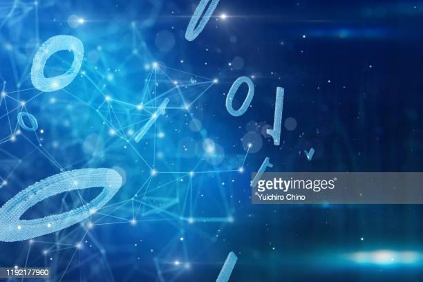 binary and network - データ  ストックフォトと画像