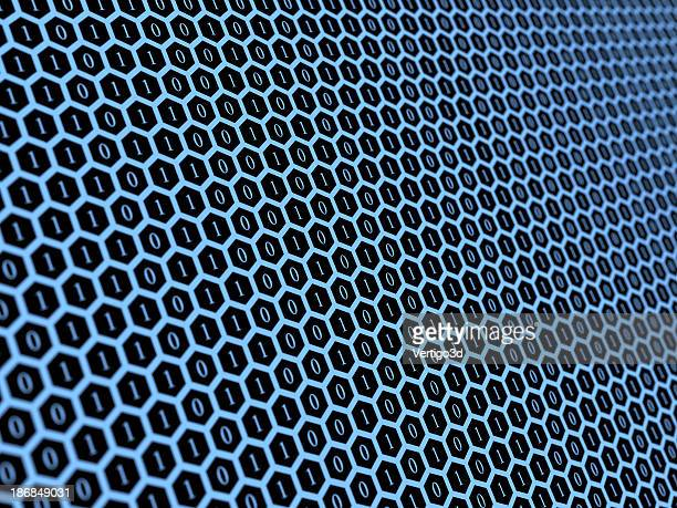 Binary code abstract background