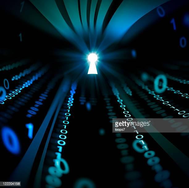 Abstrato Código binário Túnel