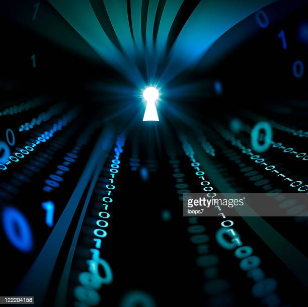 binary code abstract tunnel