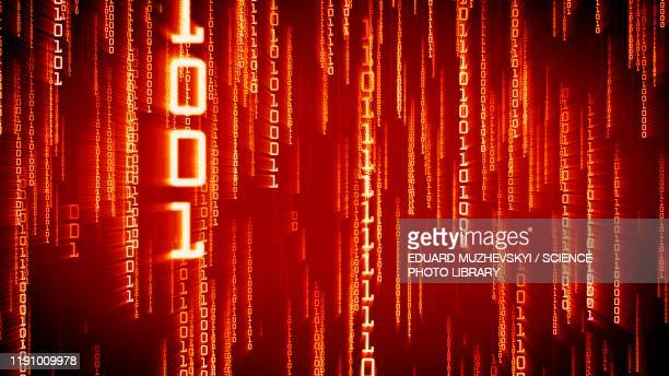 binary code, conceptual illustration - binary code stock pictures, royalty-free photos & images