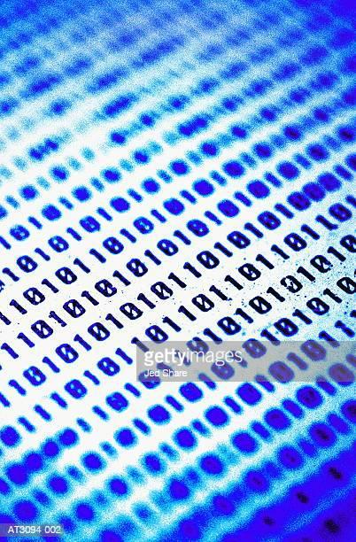 Binary code, full frame (blue tone, Digital Enhancement)