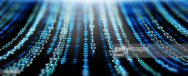 binary code panorama - binary code stock pictures, royalty-free photos & images