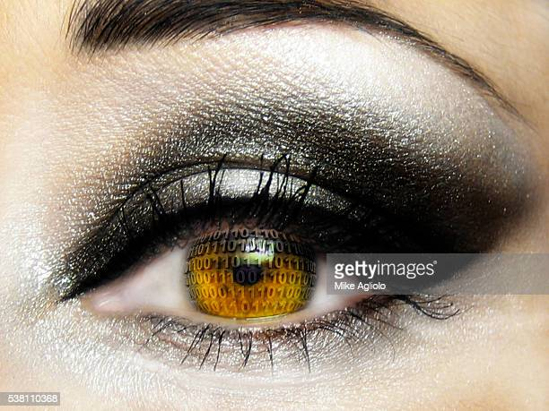 binary eye - mike agliolo stock pictures, royalty-free photos & images