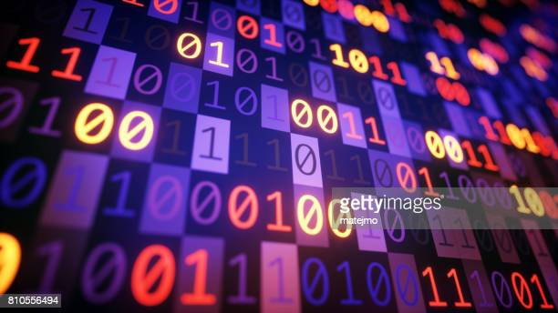 Binary Numbers Multicolored