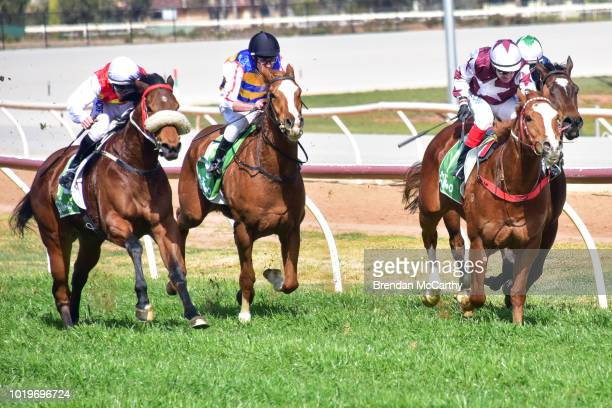 Michael Poy after winning the bet365 Maiden Plate at Swan Hill Racecourse on August 20 2018 in Swan Hill Australia