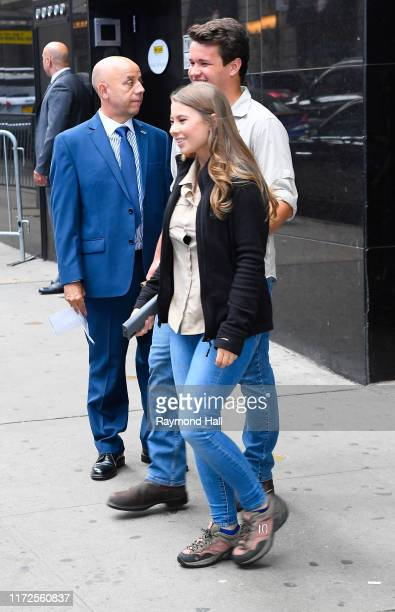 Bindi Irwin and Chandler Powell are seen outside good morning on September 30, 2019 in New York City.