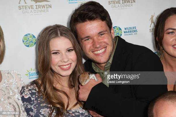 Bindi Irwin and Chandler Powell attend the Steve Irwin Gala Dinner at the SLS Hotel at Beverly Hills on May 13 2017 in Los Angeles California