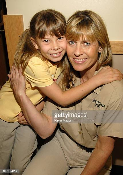 Bindi Irwin and Terri Irwin during Nickelodeon's 20th Annual Kids' Choice Awards - Backstage and Audience at Pauley Pavilion in Westwood, California,...