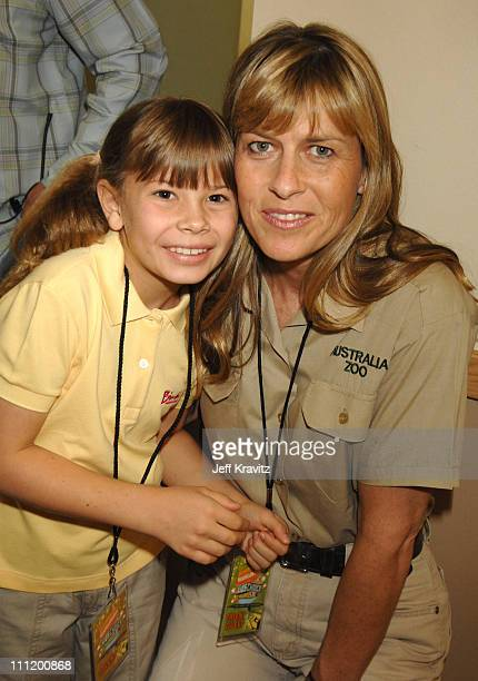 Bindi Irwin and Terri Irwin during Nickelodeon's 20th Annual Kids' Choice Awards Audience and Backstage at Pauley Pavilion UCLA in Westwood...