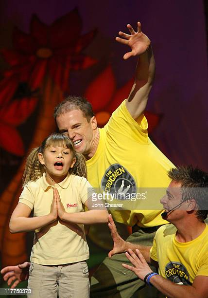 Bindi Irwin and The Crocmen during G'Day USA Aussie Family Concert at LA Music Center, Ahmanson Theater in Los Angeles, California, United States.