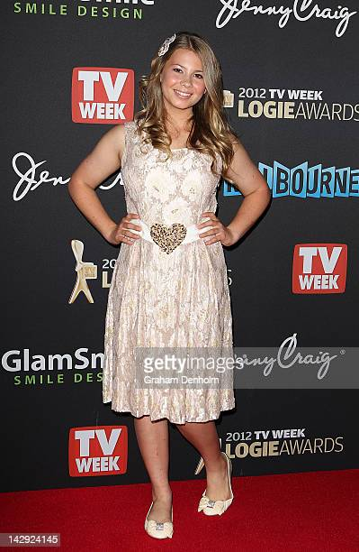 Bindi Irwin arrives at the 2012 Logie Awards at the Crown Palladium on April 15 2012 in Melbourne Australia