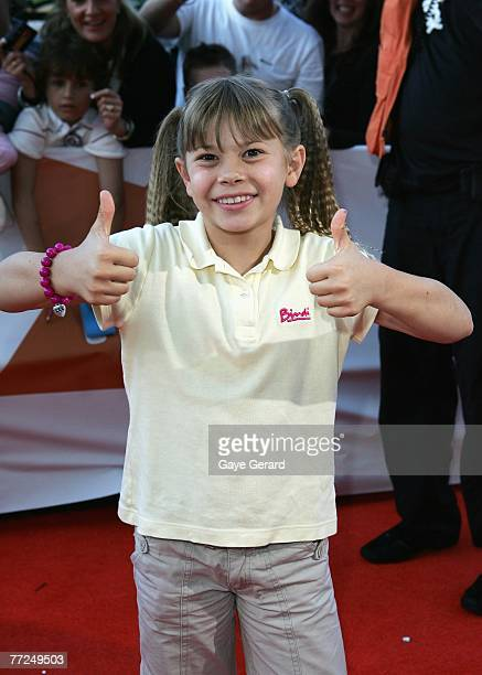 Bindi Irwin arrives at the Nickelodeon Australian Kids' Choice Awards 2007 at the Sydney Entertainment Centre on October 10, 2007 in Sydney,...