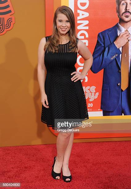 Bindi Irwin arrives at the premiere of Warner Bros Pictures' 'The Nice Guys' at TCL Chinese Theatre on May 10 2016 in Hollywood California