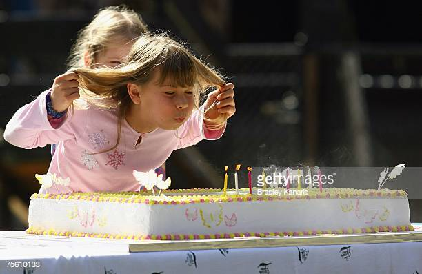 Bindi Irwin celebrates her ninth birthday and the first without her father the late Steve Irwin, at Australia Zoo on July 24, 2007 on the Sunshine...