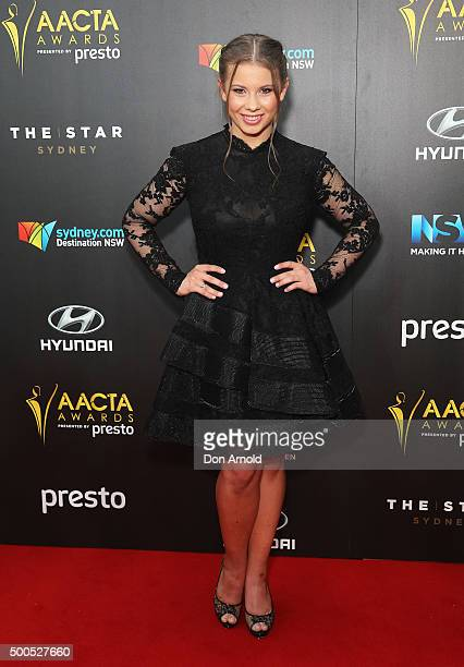 Bindi Irwin poses on the red carpet for the 5th AACTA Awards at The Star on December 9 2015 in Sydney Australia