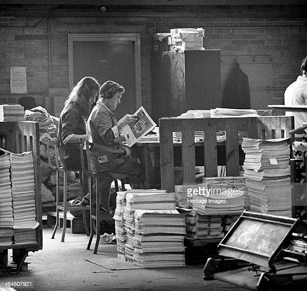 Binding room at the White Rose Press Mexborough South Yorkshire 1968 Female workers at the White Rose Press in Mexborough South Yorkshire collate...