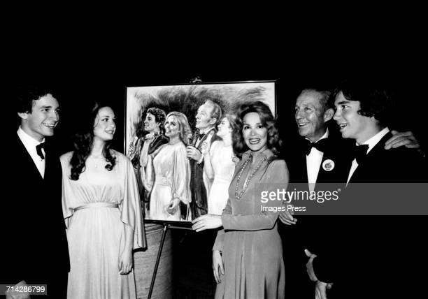 Bing Crosby and family attend a Benefit Party for Fordham Prep at Avery Fisher Hall, Lincoln Center circa 1976 in New York City.