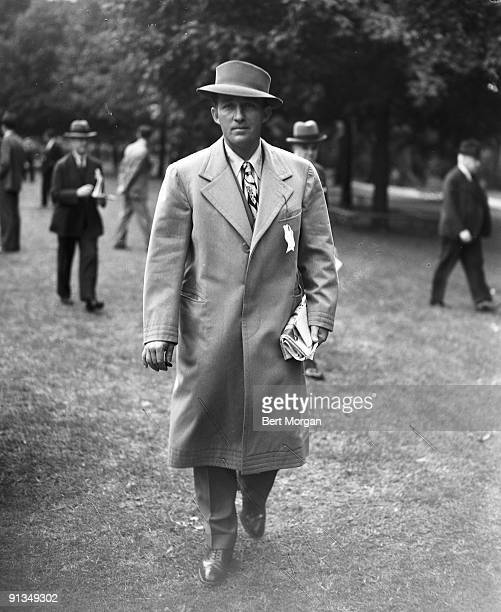 Bing Crosby at the Belmont Park racetrack opening 1933