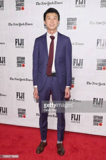 Bing Liu attends the 2018 IFP Gotham Awards with FIJI Water at Cipriani Wall Street on November 26 2018 in New York City