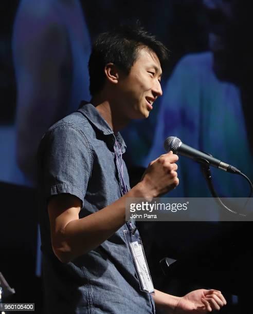 Bing Liu attends the 2018 Sarasota Film Festival on April 21 2018 in Sarasota Florida