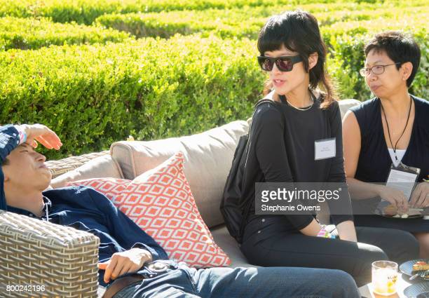 Bing Liu Eliza Lee Michelle Sy Fast Track Fellows attend the Fast Track Happy Hour during the 2017 Los Angeles Film Festival on June 21 2017 in...