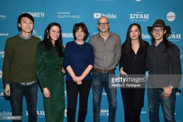 Bing Liu Elizabeth Chai Vasarhelyi Betsy West Logan Hill Alexandria Bombach and Jeff Orlowski attend the Talent Forum Keynote The Year That Was...