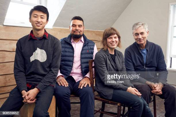 Bing Liu Kevin Shaw Rebecca Parrish and Steve James from the film 'America To Me' poses for a portrait in the YouTube x Getty Images Portrait Studio...