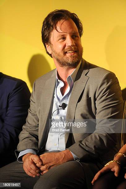 Bing principal UX manager Michael Kroll attends NYC Bing redesign panel featuring Jonathan Adler and David Bromstad on September 17 2013 in New York...