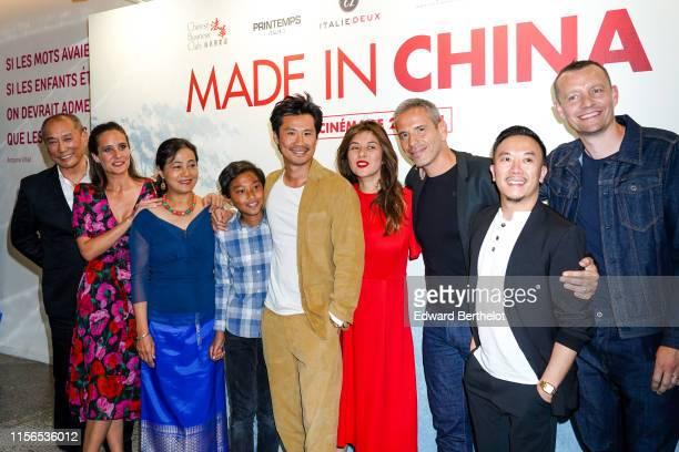 "Bing Yin, Julie de Bona, Li Heling, Frédéric Chau, Mylène Jampanoï, Medi Sadoun, Steve Tran, attend the ""Made In China"" Paris Premiere photocall At..."