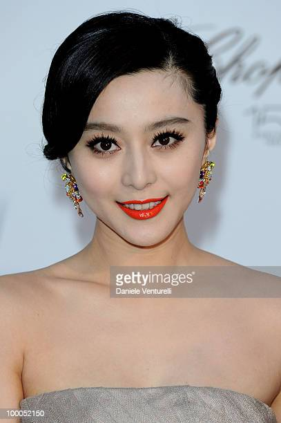 BingBing Fan arrives at amfAR's Cinema Against AIDS 2010 benefit gala at the Hotel du Cap on May 20 2010 in Antibes France