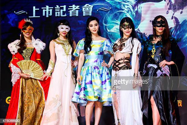 Bingbing Fan promotes for an online game on 28th May 2015 in Taipei Taiwan China
