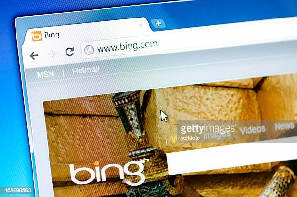 Bing.com webpage on the browser