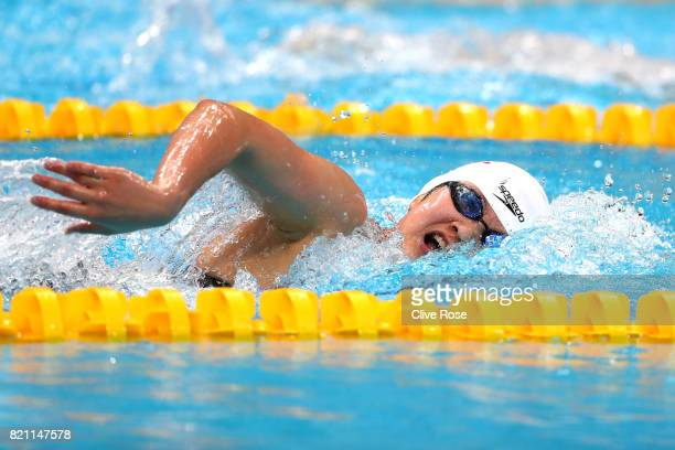 Bingjie Li of China during the Women's 400m Freestyle heats on day ten of the Budapest 2017 FINA World Championships on July 23 2017 in Budapest...