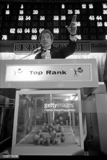 Bingo caller working in North London, circa June 1969. From a series of images to illustrate the many frustrations of living in Britain during the...