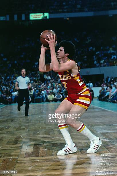 Bingo Smith of the Cleveland Cavaliers looks to shoot against the Boston Celtics during a game played in 1976 at the Boston Garden in Boston...