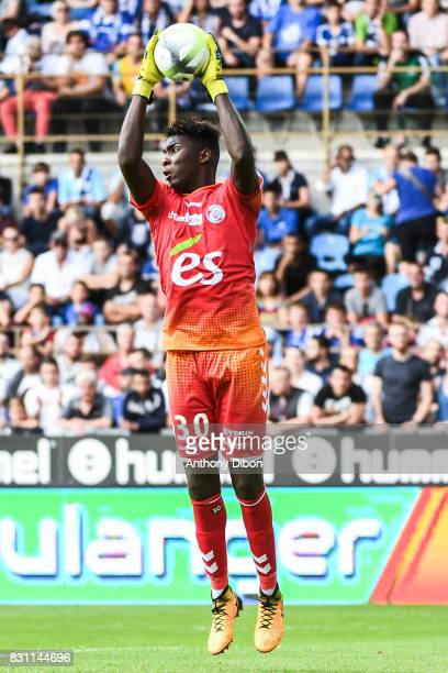 Bingourou Kamara of Strasbourg during the Ligue 1 match between Racing Club Strasbourg and Lille OSC at Stade de la Meinau on August 13 2017 in...