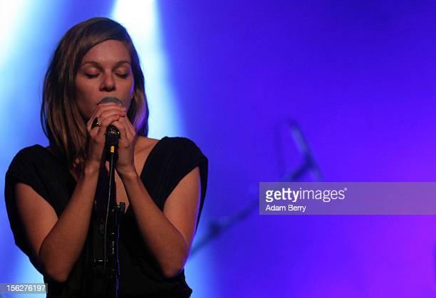 Binki Shapiro performs in Heimathafen Neukoelln on November 12, 2012 in Berlin, Germany.