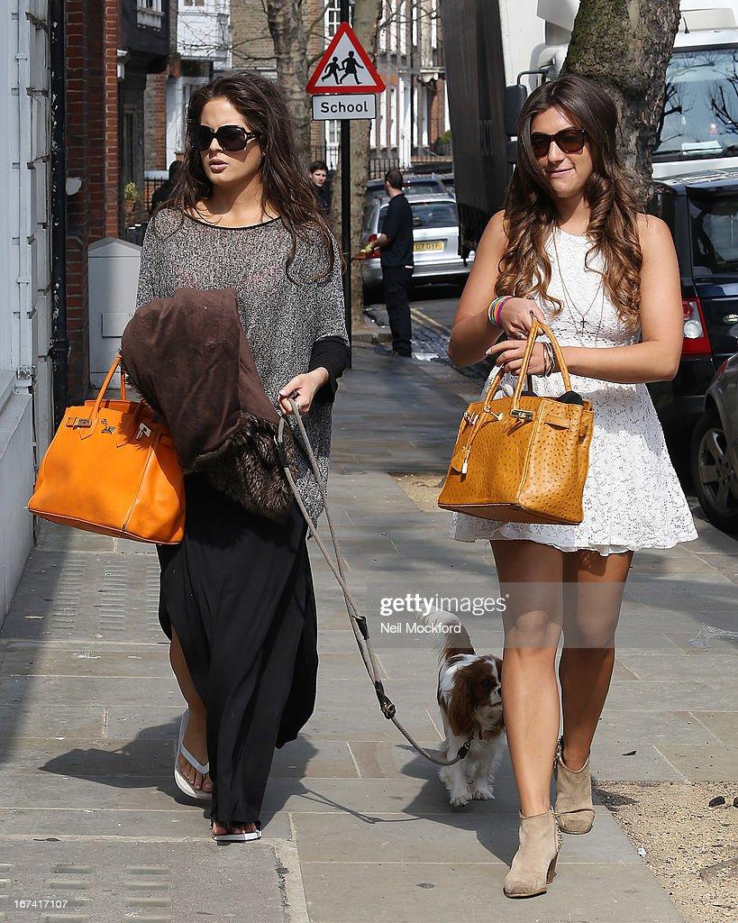 Binky Falstead and Gabriella Ellis seen on Chelsea's King's road on April 25, 2013 in London, England.